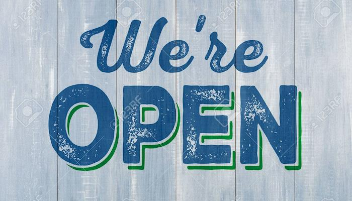 we are open blue